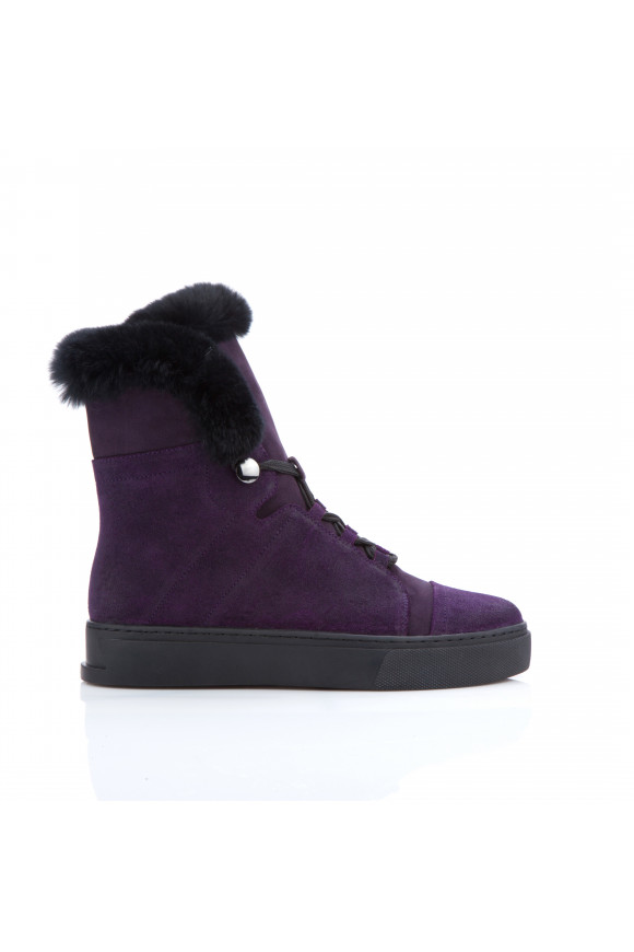 Ботинки женские замшевые